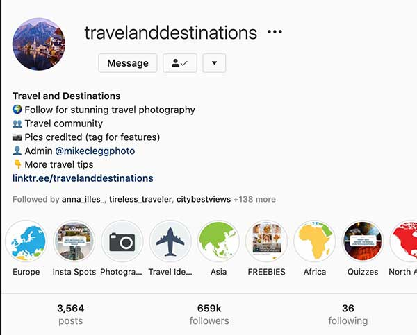 @TravelAndDestinations Travel Feature Account on Instagram