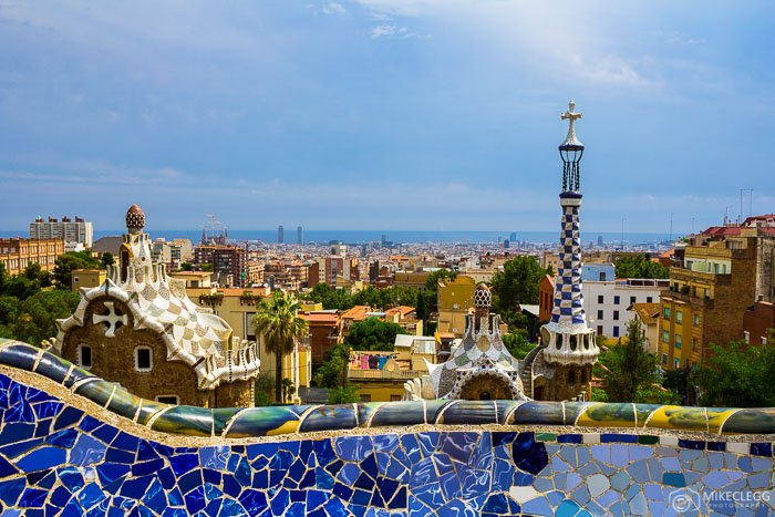 A view of the Barcelona skyline from Park Guell