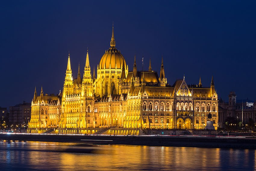 The Hungarian Parliament at night - Part of Cities to visit in Europe