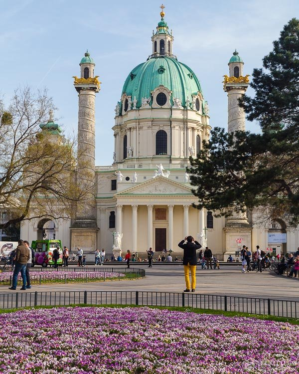 Karlskirche in the Spring, Vienna