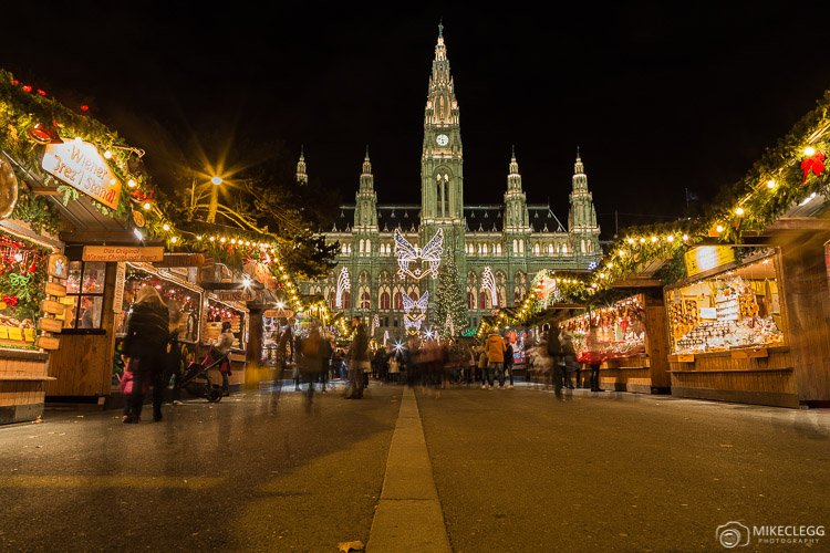 Rathaus at Christmas in Vienna