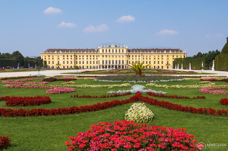 Schönbrunn Palace in the summer