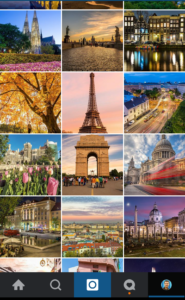 Instagram grid an theme example