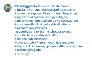 Instagram hash tags