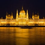 The Hungarian Parliament in Budapest at night