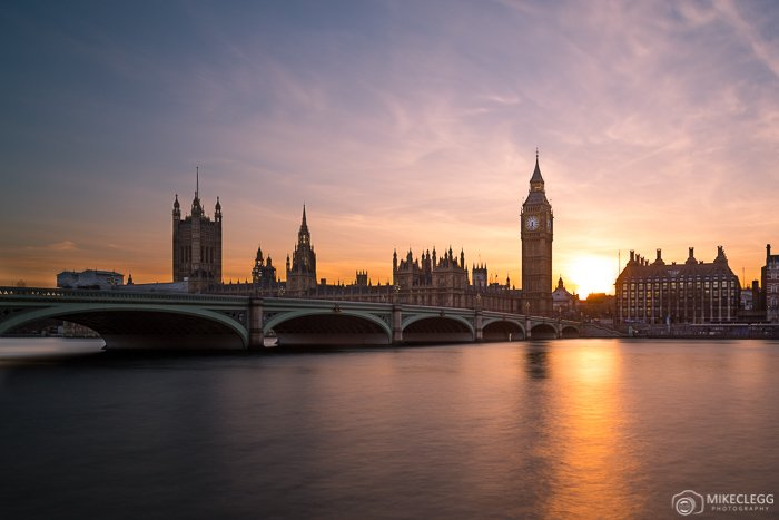Palace of Westminster, Sunset