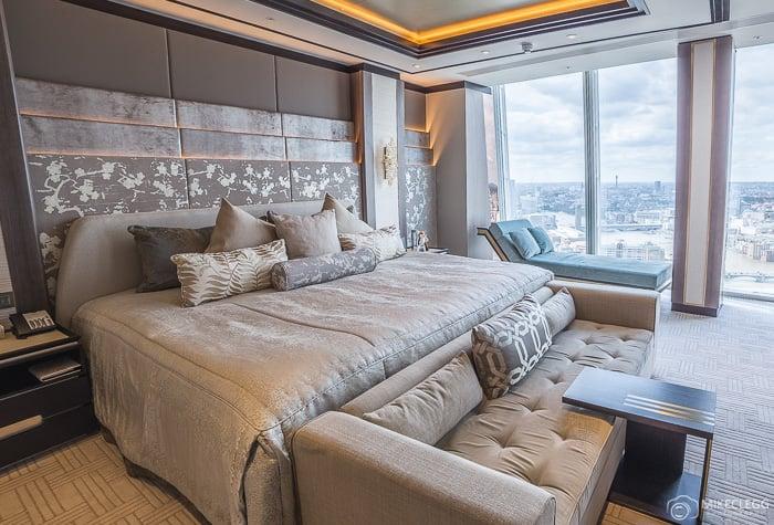 Main bedroom in the Shangri-La Suite