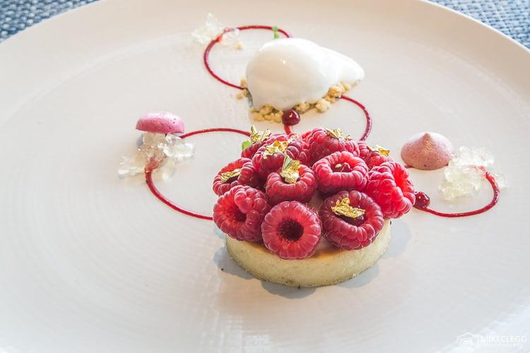 Raspberry Desserts at Ting Restaurant