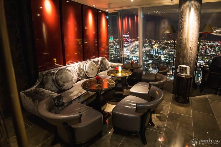 Seating at GŎNG bar at the Shangri-La