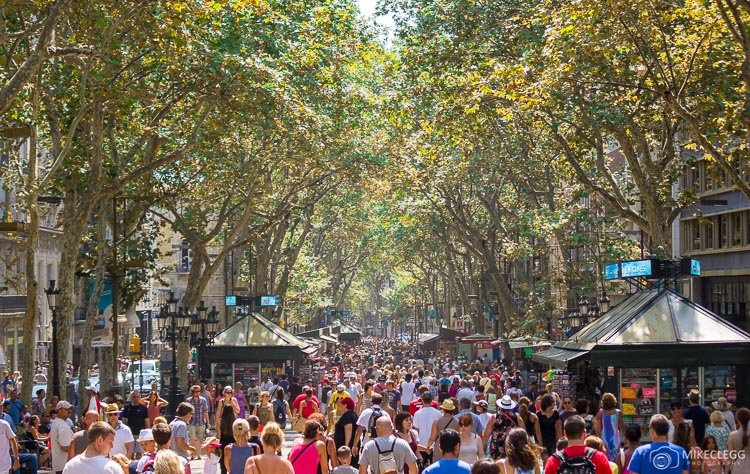 Shopping Streets in Barcelona
