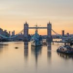 Sunrise and Tower Bridge, London