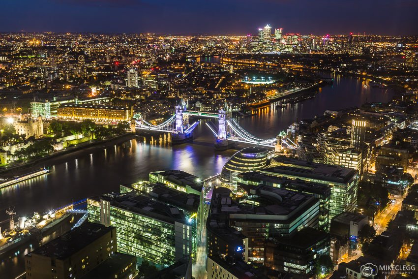 Views from the Shangri-La At The Shard at night
