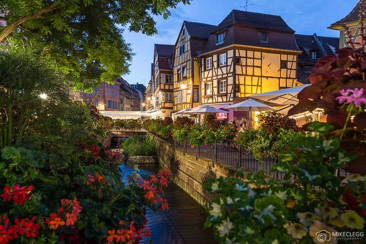Architecture in Colmar at night