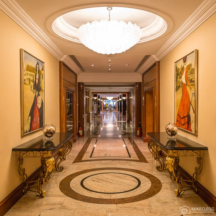 Beautiful corridors at Westin Zagreb