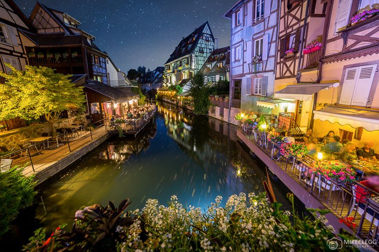 Colmar and Canals at night