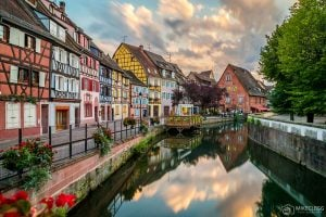 Colmar, France at sunset