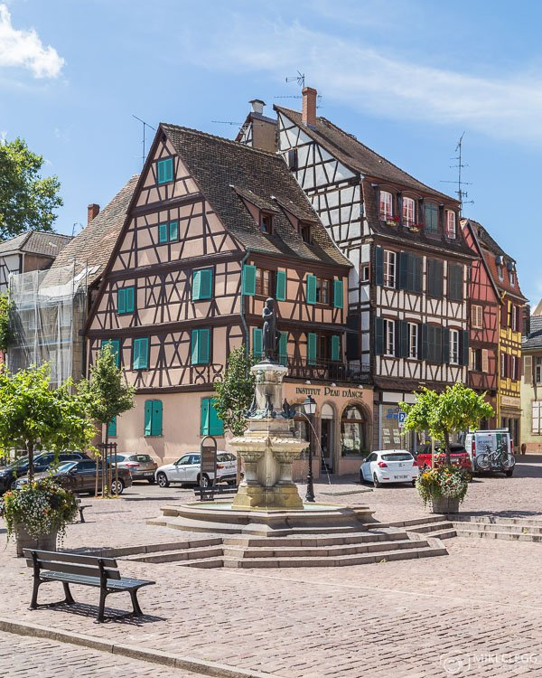 Colourful Streets and architecture in Colmar