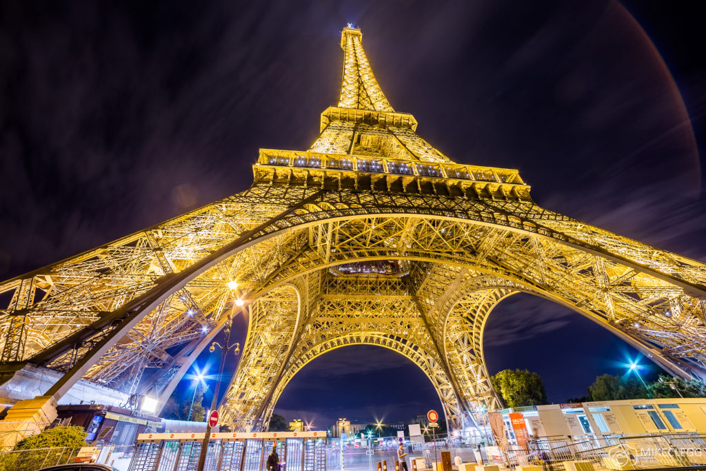The Eiffel Tower in Paris at Night