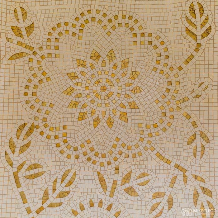 Mosaic designs in the bathrooms, Prince de Galles