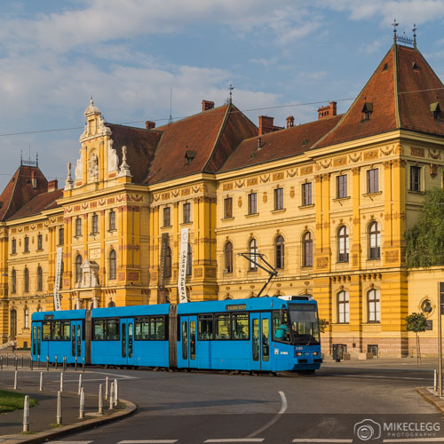 Blue Trams in Zagreb