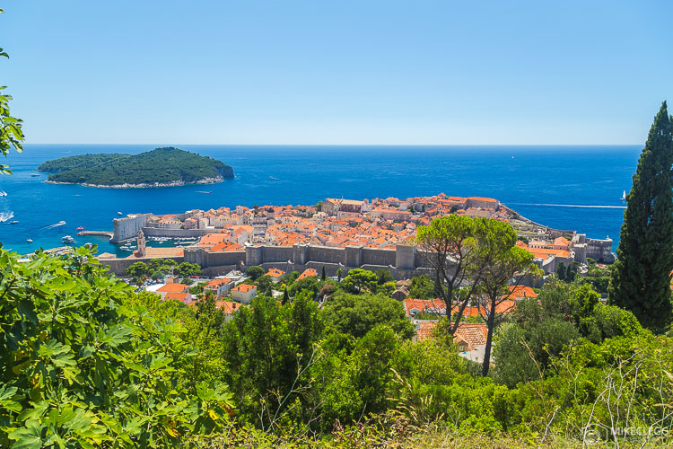 High viewpoints towards Dubrovnik Old Town