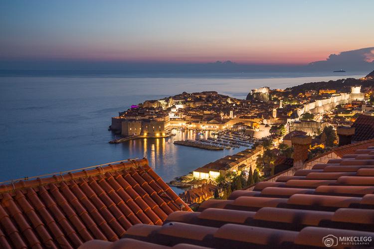 High views of Dubrovnik at night