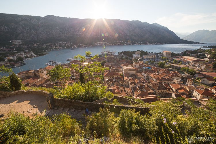 Kotor Old Town from the Fortress