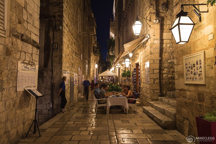 Old Town Dubrovnik at night