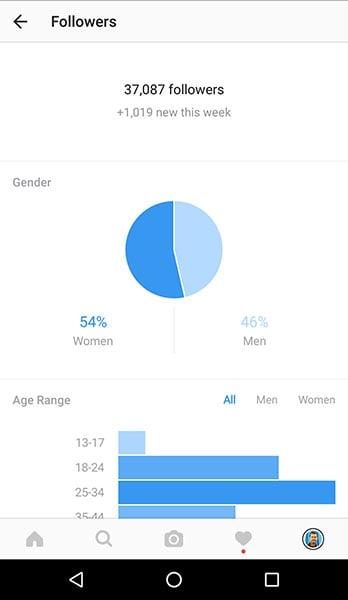 Instagram Insights - Follower stats
