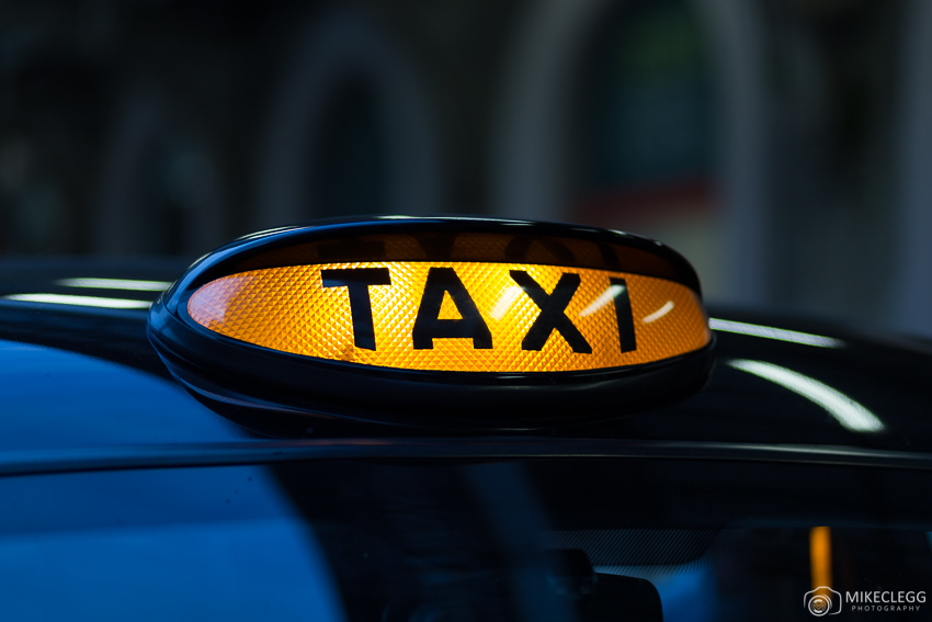 Sign for a taxi