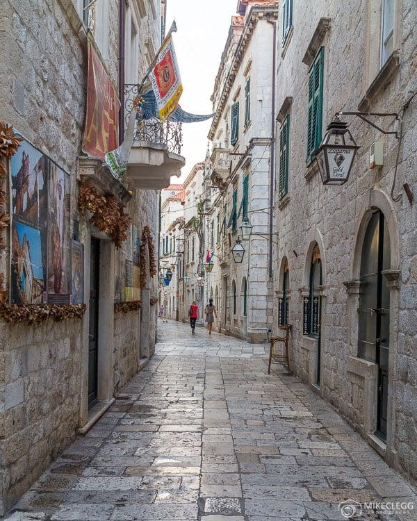 Rues de la vieille ville de Dubrovnik