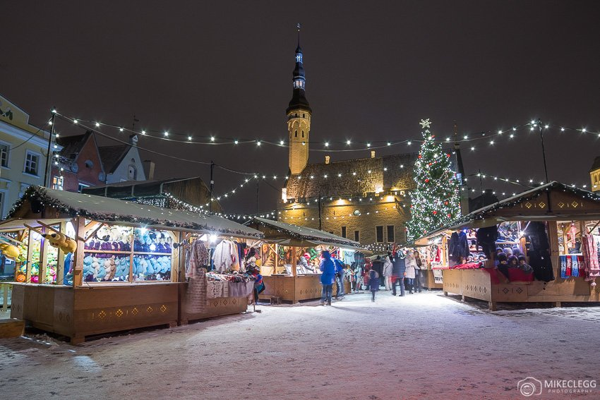 Tallinn Christmas Market and snow