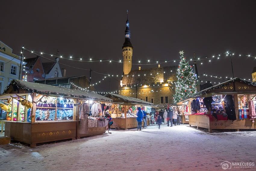 Tallinn Christmas Market and snow