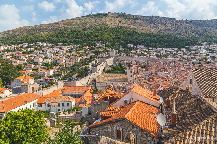 View from the walls of Dubrovnik Old Town