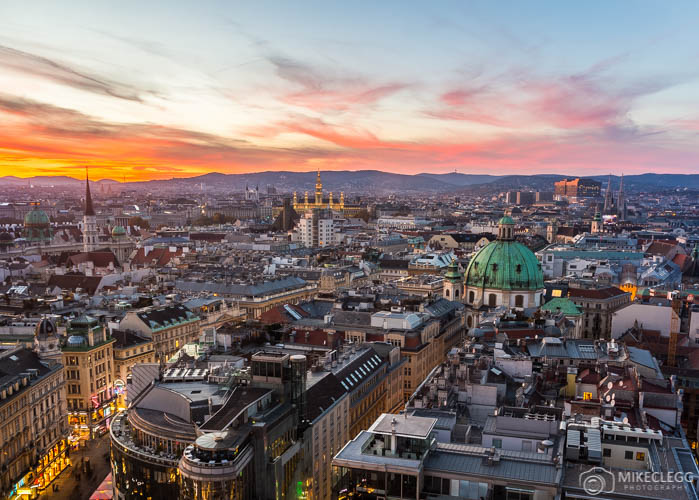 Vienna Skyline from Stephansdom