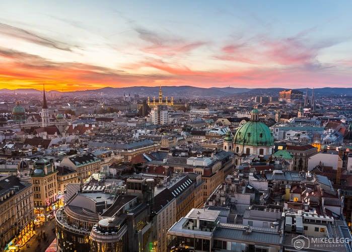 Vienna Skyline from Stephansdom South Tower