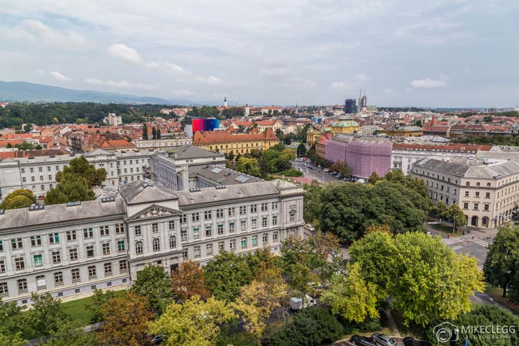 Views from Westin Hotel in Zagreb