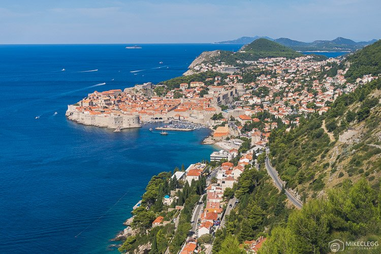 Views of Dubrovnik from road D8