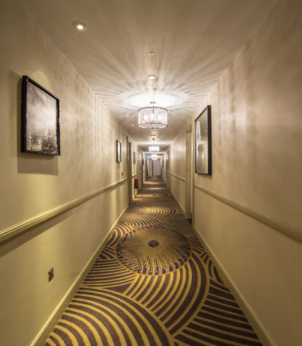 Corridors of Sheraton Grand Park Lane