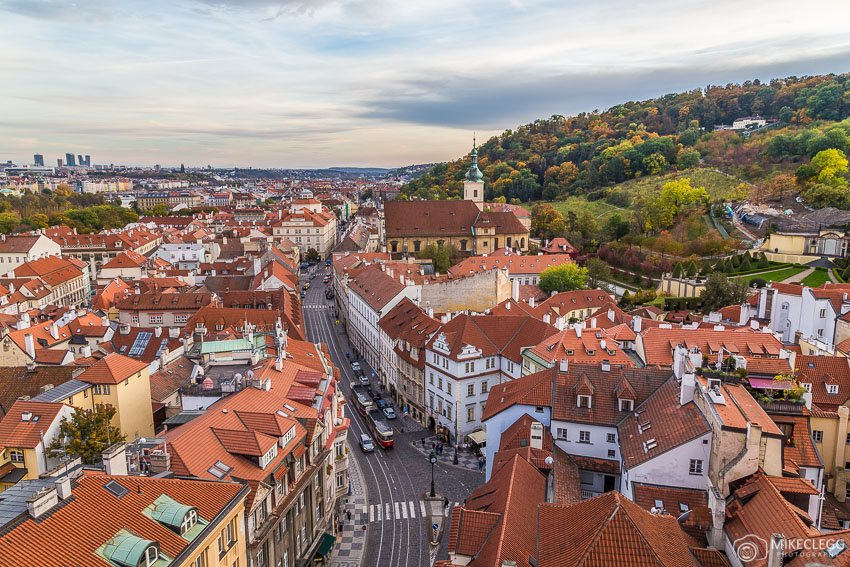 View from Town Belfy by St. Nicholas Church, Prague
