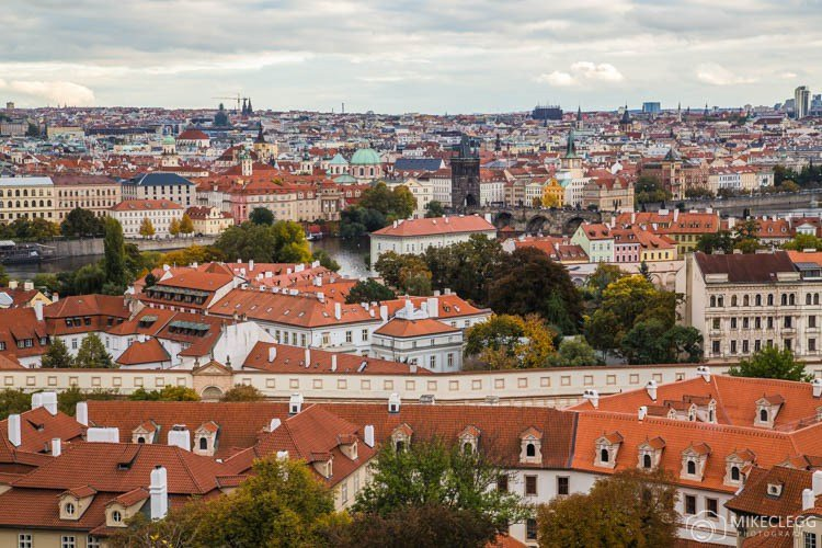 View from walls of Prague Castle