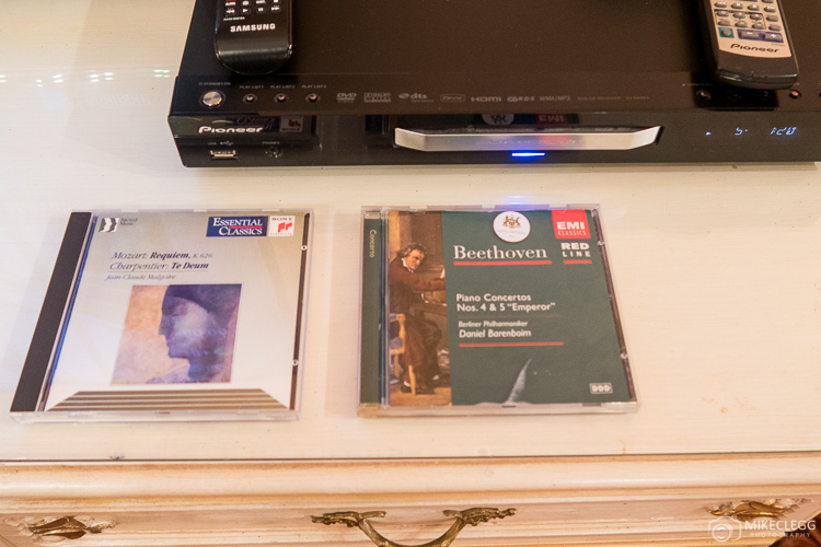 Beethoven and Mozart CDs and music player