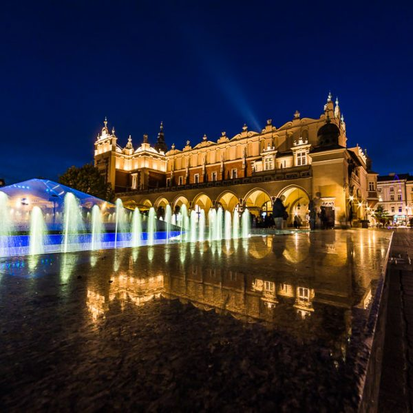 Cloth Hall, Krakow at night