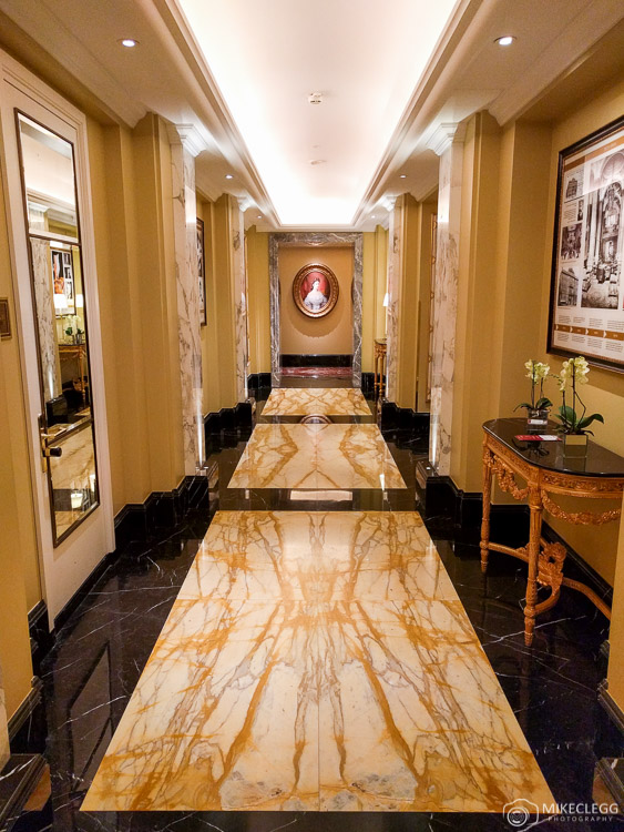 Luxurious corridors in Hotel Imperial Vienna