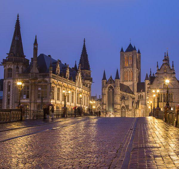 Ghent, Belgium at Night