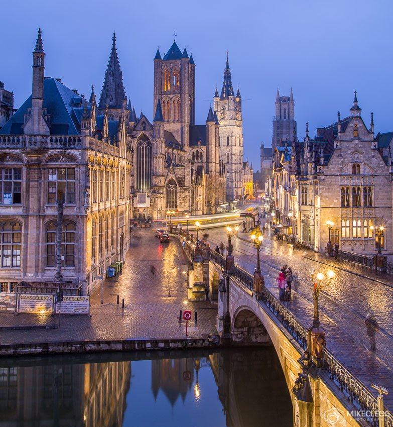 Ghent Old Town at night
