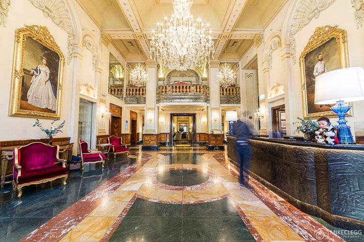 Grand lobby of Hotel Imperial Vienna