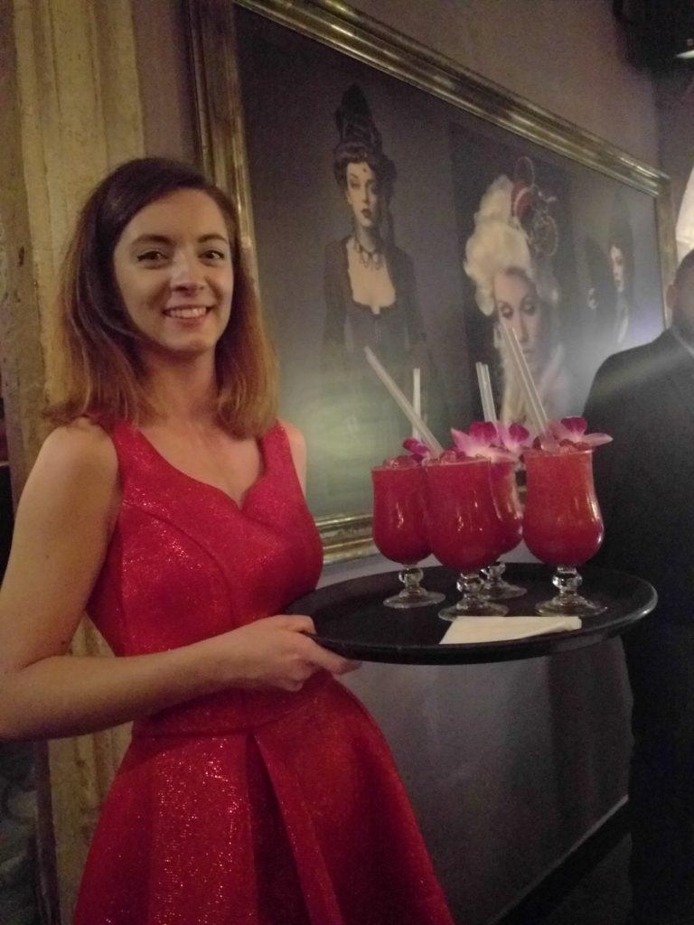 Waitress at Baroque Cocktail Bar
