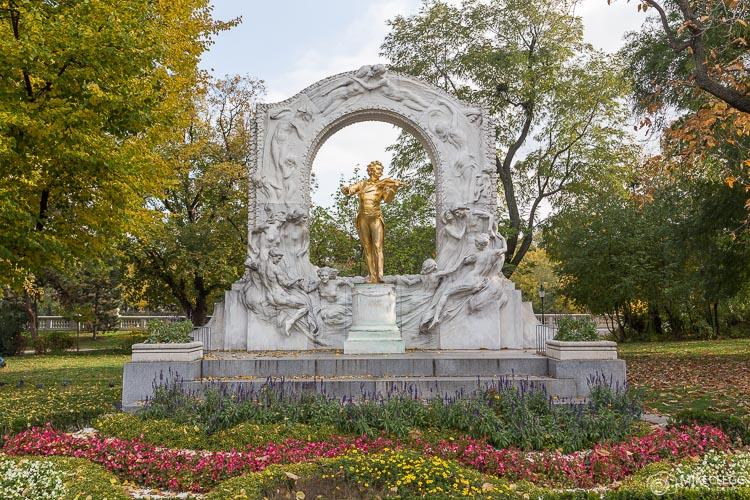 Monument for Johann Strauss in Stadtpark