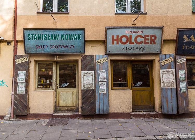 Old shops along Szeroka, Krakow